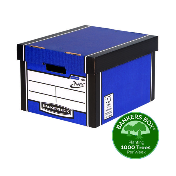 Box Fellowes Bankers Box Blue Premium Storage Box (10+2 Pack) 7250601