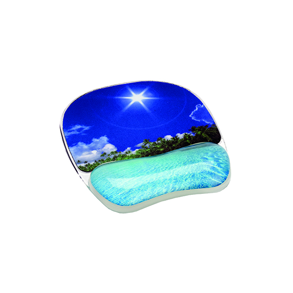 Sets Fellowes Photo Gel Mouse Pad Tropical Beach 9202601