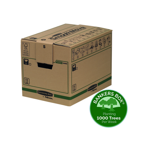 Box Fellowes Bankers Box Moving Box Small Brown Green (5 Pack) 6205201