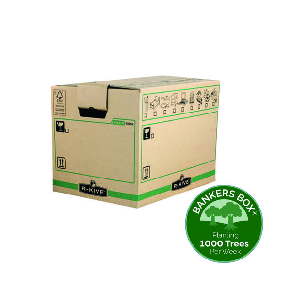 Box Fellowes Bankers Box Moving Box X-Large Brown Green (5 Pack) 6205401