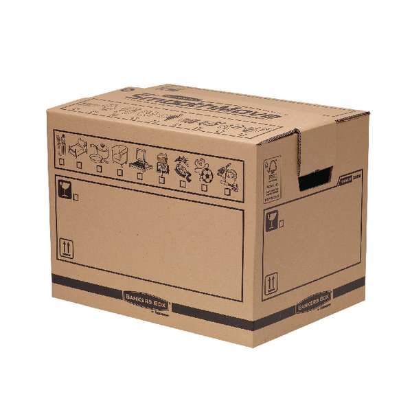 Box Bankers Box Manual Removal Box Book Box H340xW320xD450mm (5 Pack) 6205603