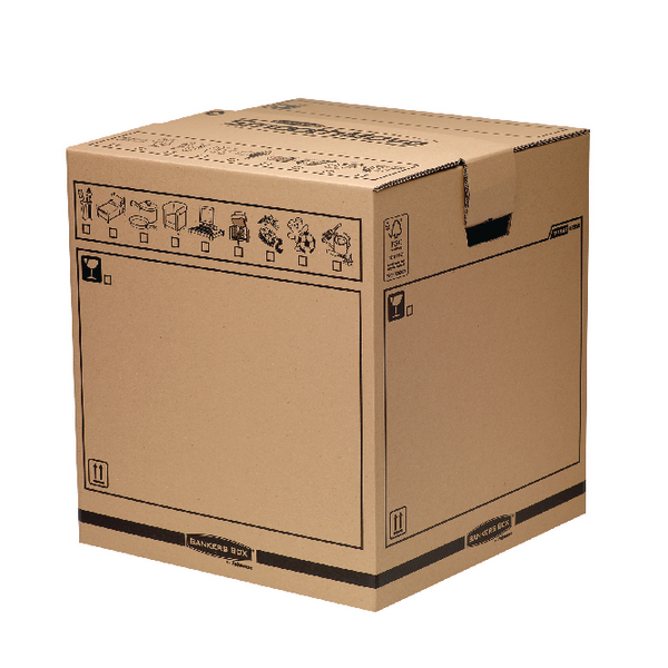 Box Bankers Box Brown Manual Removal Box Tea Chest H500xW457xD457mm (5 Pack) 6205801