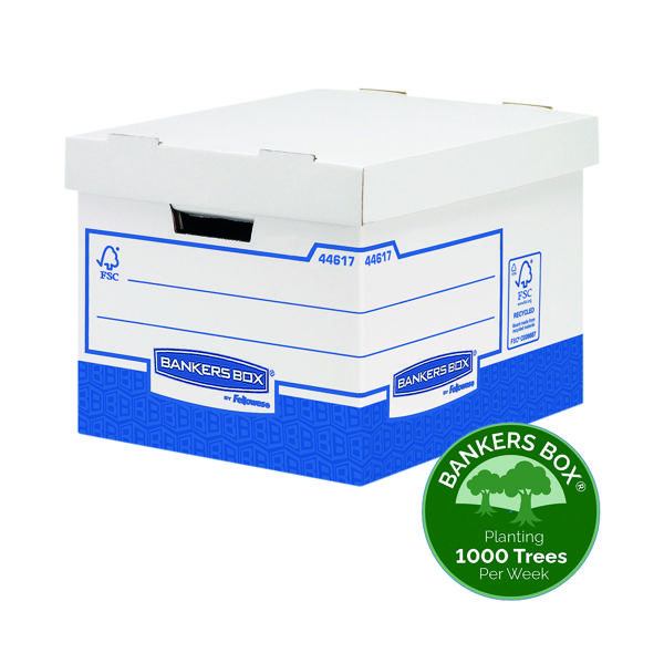 Fellowes Basics Heavy Duty Storage Box W333xD380xH285mm Standard (10 Pack) BB72105
