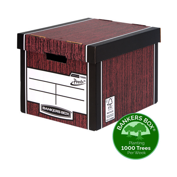 Storage Boxes Bankers Box Woodgrain Tall Premium Storage Box (10 Pack) 7260503