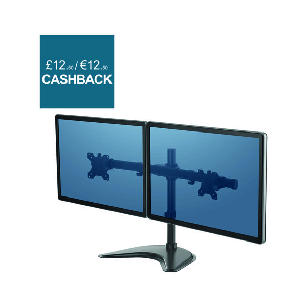 Arms Fellowes Professional Series Free Standing Dual Horizontal Monitor Arm 8043701