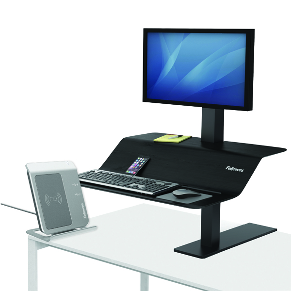 Desktops Fellowes Lotus VE Sit-Stand Workstation Single 8080101