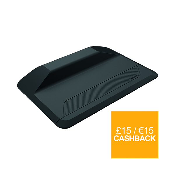 Indoor Fellowes ActiveFusion Anti-Fatigue Sit-Stand Mat Black 8707101