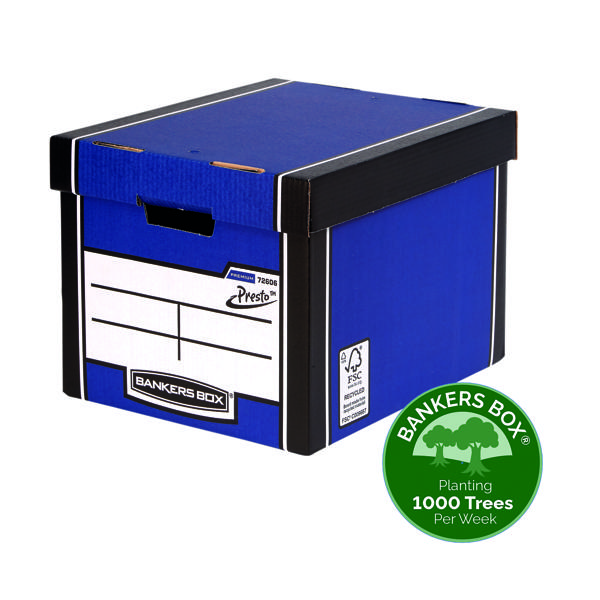 Storage Boxes Bankers Box Blue Tall Premium Storage Box (12 Pack) 7260601