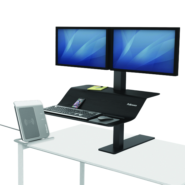 Desktops Fellowes Lotus VE Sit-Stand Workstation Dual 8082001