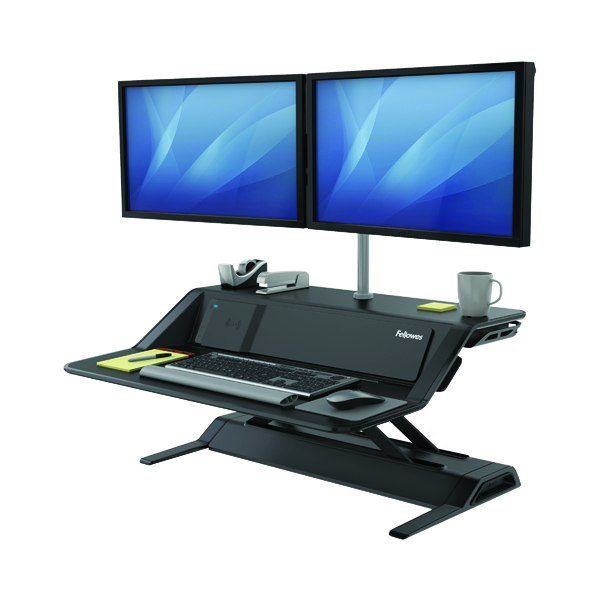 Desktops Fellowes Lotus DX Sit-Stand Workstation Black 8081001