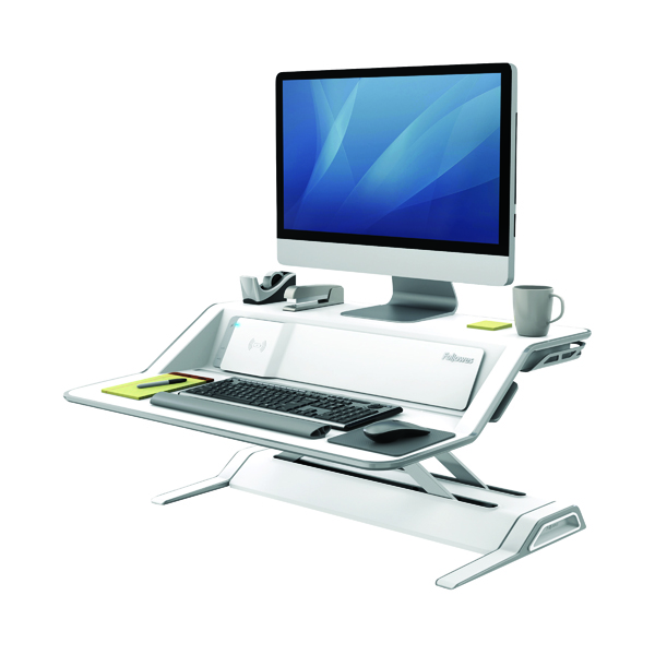 Desktops Fellowes Lotus DX Sit-Stand Workstation Black 8081101