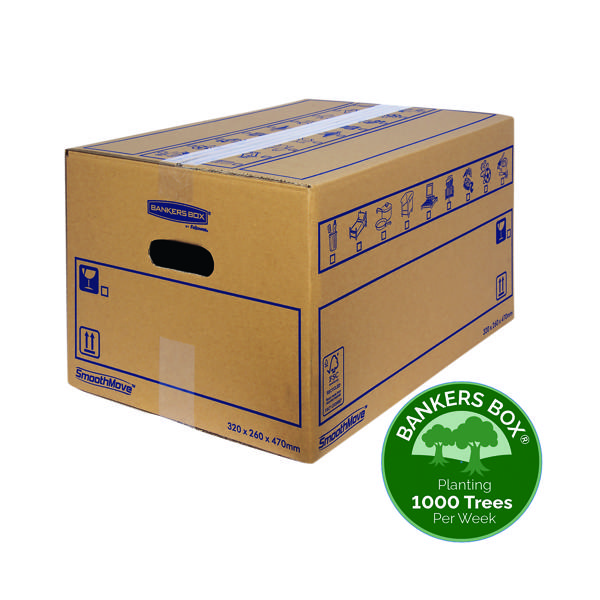 Boxes Bankers Box SmoothMove Standard Moving Box 320x260x470mm (10 Pack) 6207201