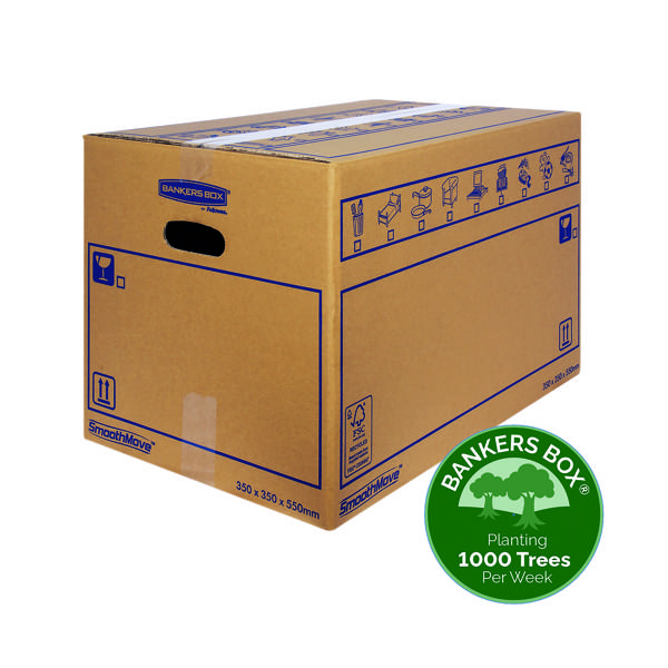Boxes Bankers Box SmoothMove Standard Moving Box 350x350x550mm (10 Pack) 6207301