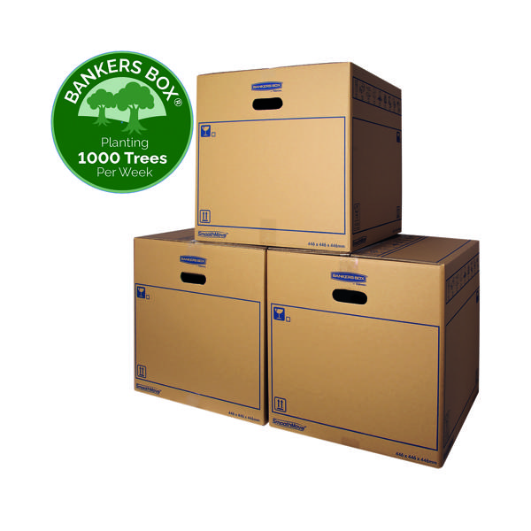 Bankers Box SmoothMove Standard Moving Box 446x446x446mm (10 Pack) 6207401