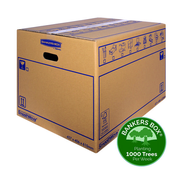 Boxes Bankers Box SmoothMove Standard Moving Box 460x410x610mm (10 Pack) 6207501