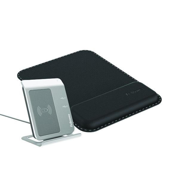 Mousemats Fellowes Hana Mousepad Wrist Support Black 8055501