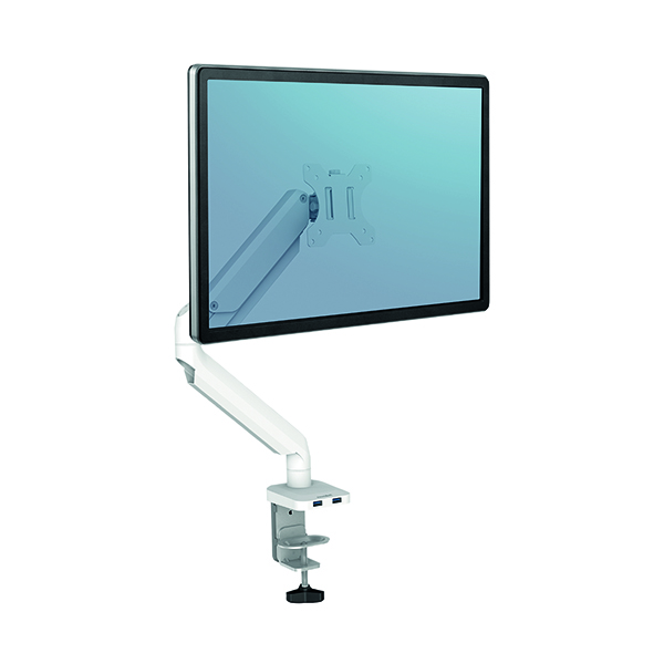 Arms Fellowes Platinum Series Single Monitor Arm White 8056201