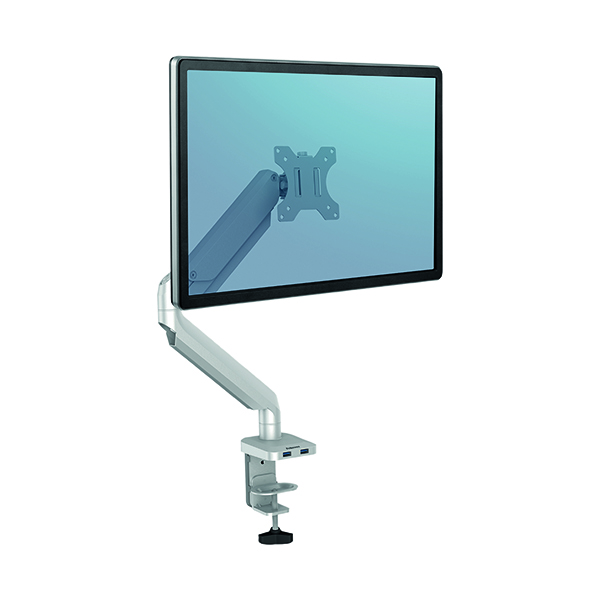 Arms Fellowes Platinum Series Single Monitor Arm Silver 8056401