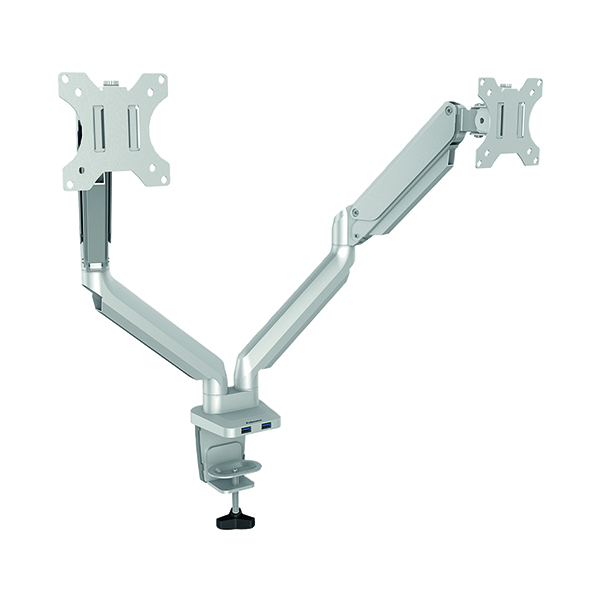 Arms Fellowes Platinum Series Dual Monitor Arm Silver 8056501