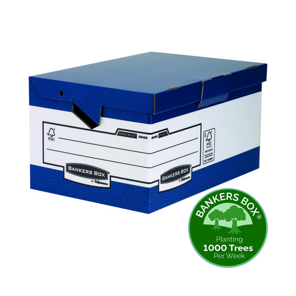 Storage Boxes Fellowes Bankers Box System Store Maxi With Ergo Handles (10 Pack) 0048901