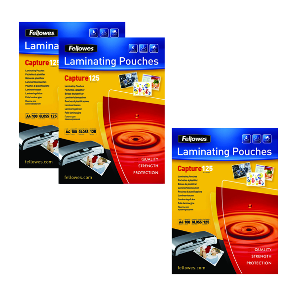 A4 Fellowes Laminating Pouch A4 250 Mic Get 3 Packs for the Price of 2 BB810553
