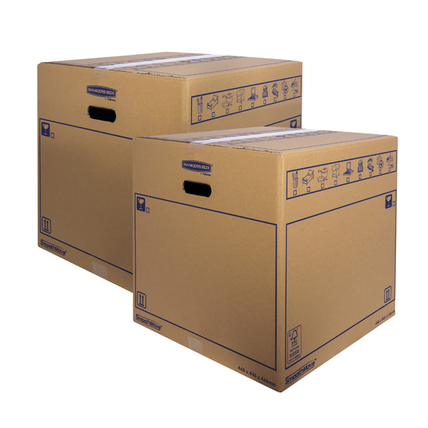 Boxes Bankers Box SmoothMove Standard Moving Box 446x446x446mm (10 Pack) BOGOF