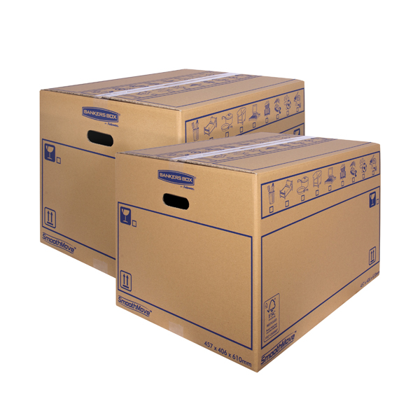 Boxes Bankers Box SmoothMove Standard Moving Box 460x410x610mm (10 Pack) BOGOF