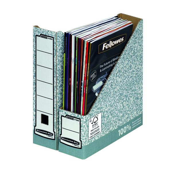 File Fellowes Bankers Box Magazine File Grey (10 Pack) BOGOF