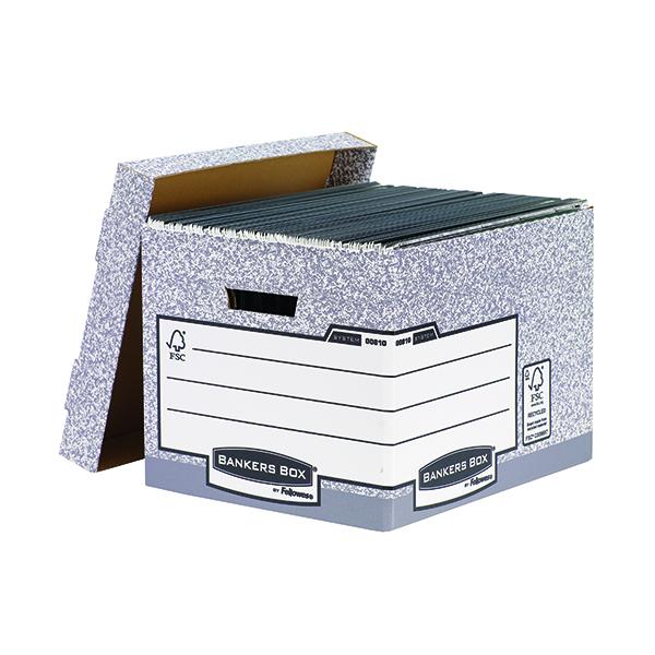 Storage Boxes Bankers Box Storage Box Grey Standard (10 Pack) 00810-FF