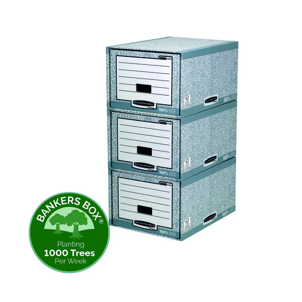 Fellowes Bankers Box System Storage Drawer Grey White (5 Pack) 01820