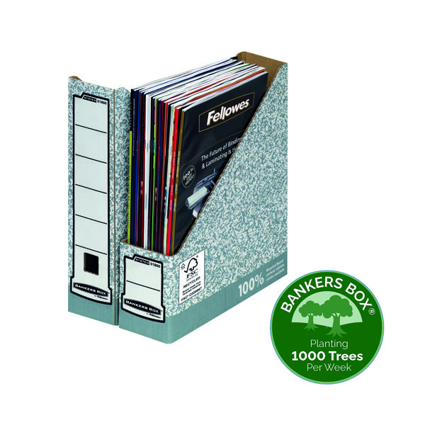 Magazine Files Fellowes Bankers Box Premium Magazine File Grey White (10 Pack) 186004