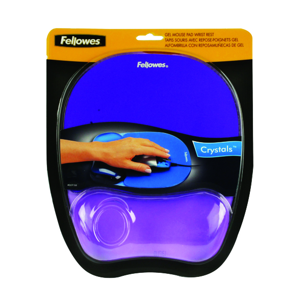 Fellowes Crystals Gel Purple Mouse Pad 9144103