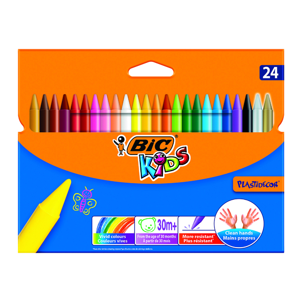 Crayon Bic Plastidecor Crayons (24 Pack) 829772