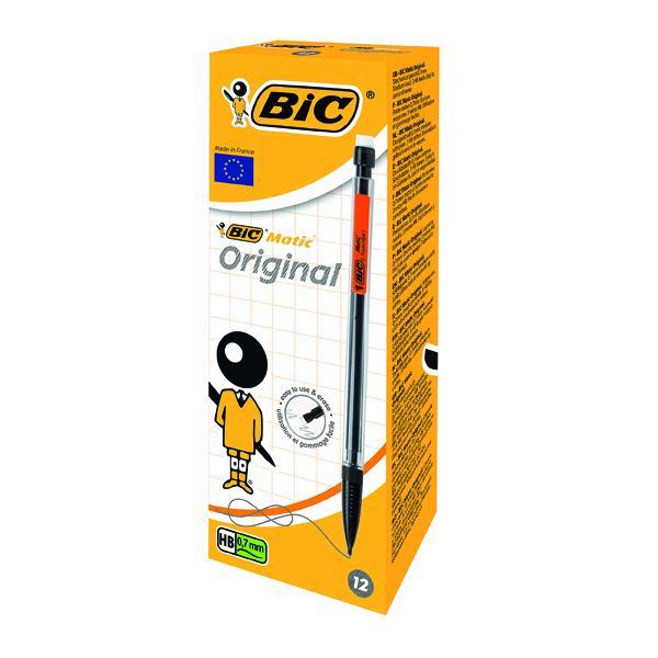 0.7mm Bic Matic Original Mechanical Pencil Medium 0.7mm (12 Pack) 820959