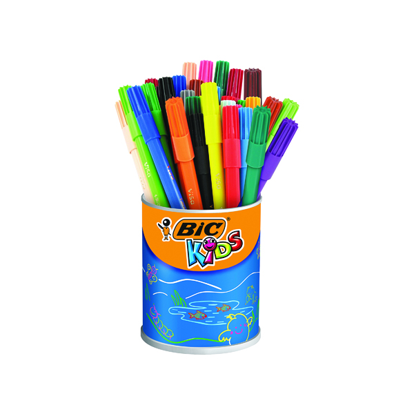 Bic Kids Visa Felt Pens Ultra Fine Tip Assorted (36 Pack) 829012