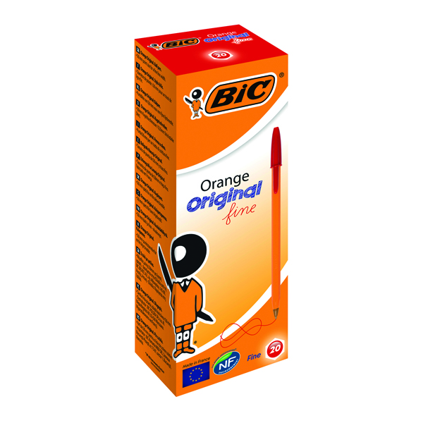 Bic Orange Fine Ballpoint Pen Red (20 Pack) 1199110112