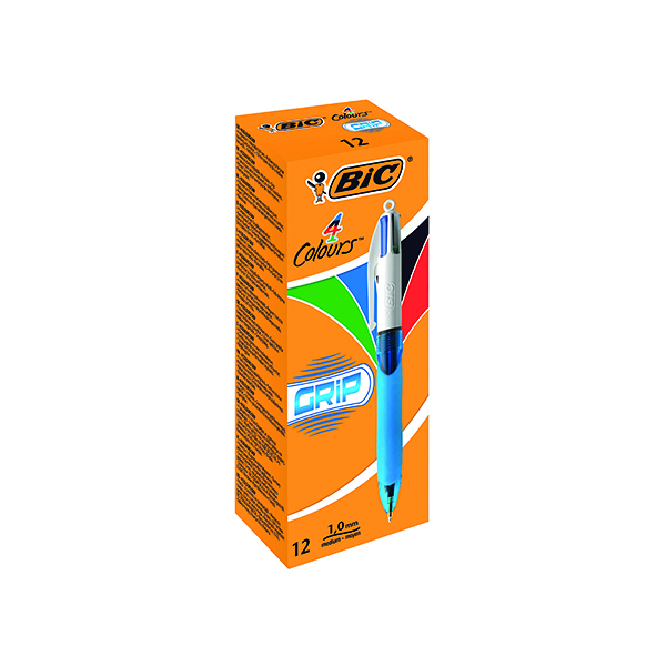 Unspecified Bic 4 Colours Comfort Grip Retractable Ballpoint Pen (12 Pack) 8871361