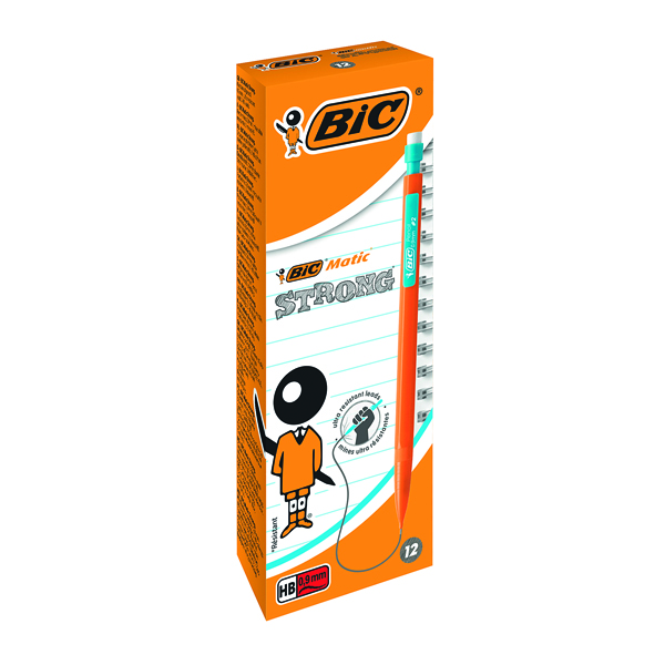 Bic Matic Original Mechanical Pencil Broad 0.9mm (12 Pack) 892271