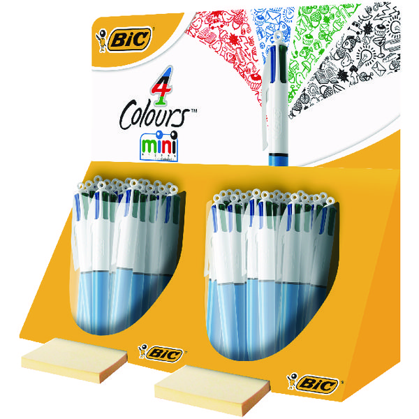 Assorted Bic 4 Colours in 1 Mini Ballpoint Pen (40 Pack) 895959