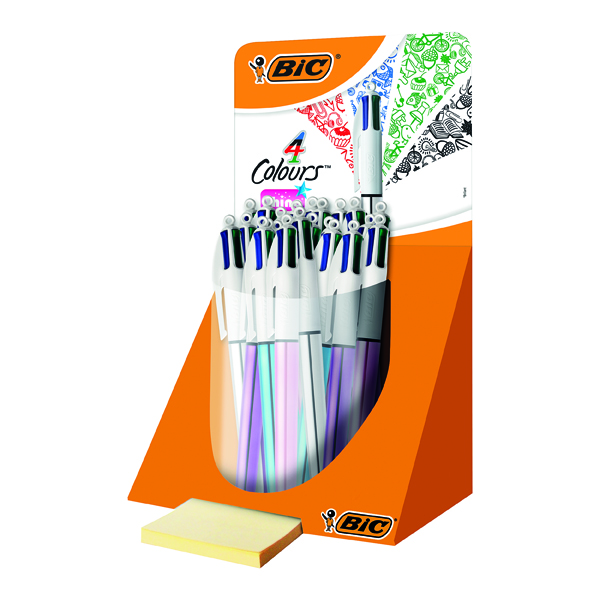 Assorted Bic 4 Colour Shine Pen Countertop Display (20 Pack) 902128