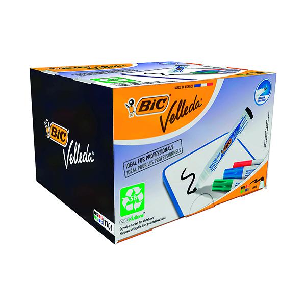Bic Velleda 1701 Drywipe Marker Bullet Tip Assorted (48 Pack) 927259