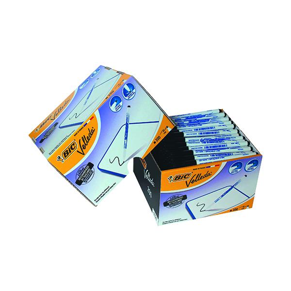 Black Bic Velleda 1721 Drywipe Marker Fine Tip Black (200 Pack) 929178