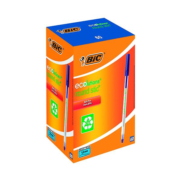 Bic ECOlutions Ballpoint Pen Medium Blue (60 Pack) 893240