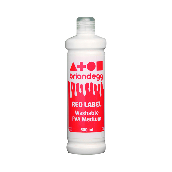 PVA Brian Clegg PVA Glue Red Label 600ml GL600R