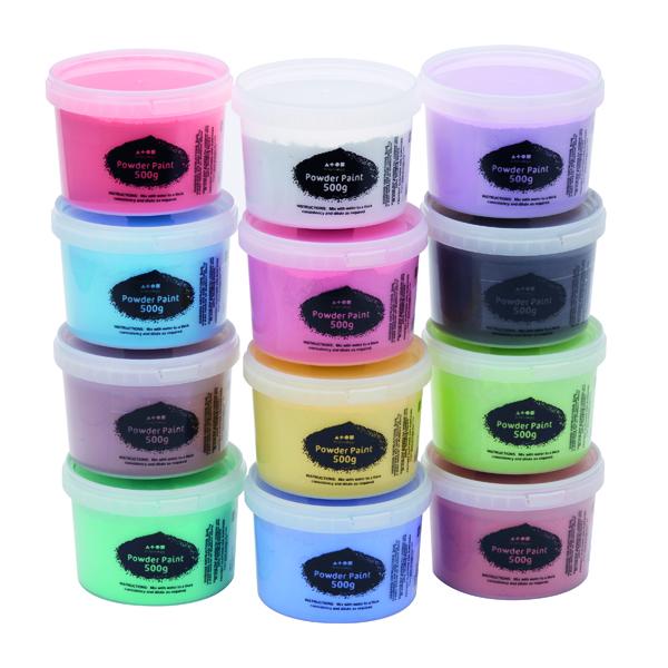 Brian Clegg Powder Paint 500g Standard Colours (12 Pack) AP18A12