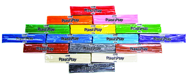 PlastiPlay Modelling Clay Assorted (20 Pack) CC15MX20