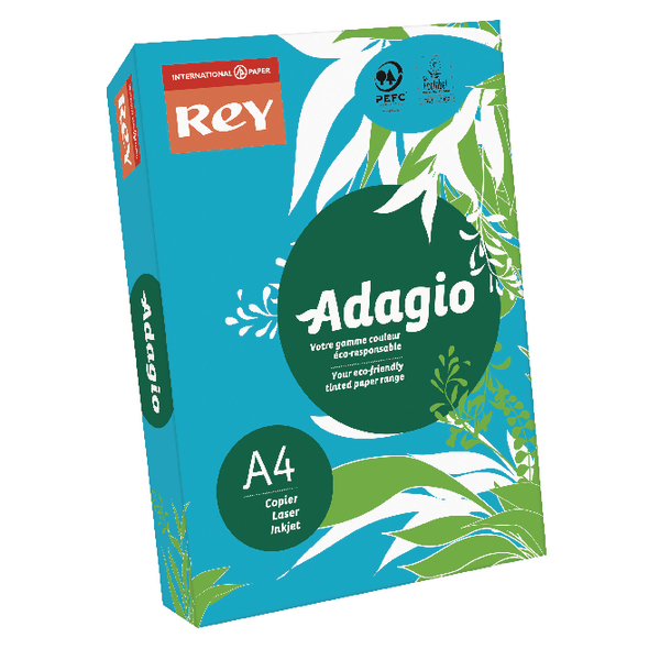 Single Colour Adagio Intense Deep Blue A4 Coloured Card 160gsm (250 Pack) 201.122