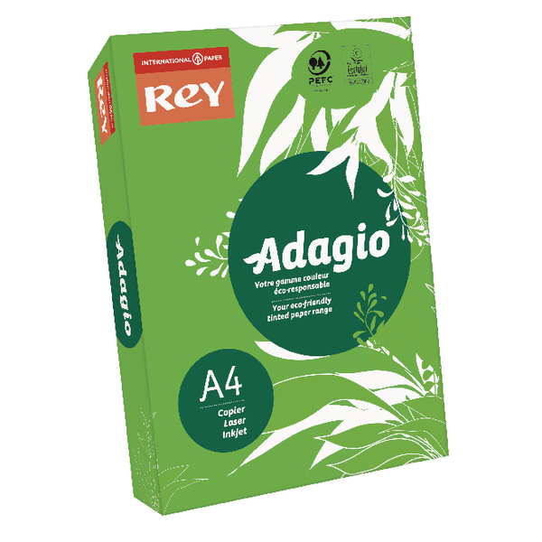 Single Colour Adagio Intense Deep Green Coloured Card (250 Pack) 201.1221