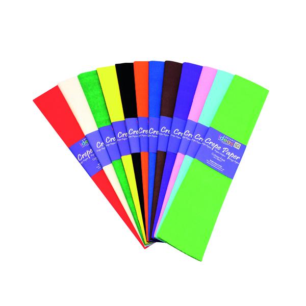 Crepe Bright Ideas Crepe Paper Assorted (12 Pack) BI0568