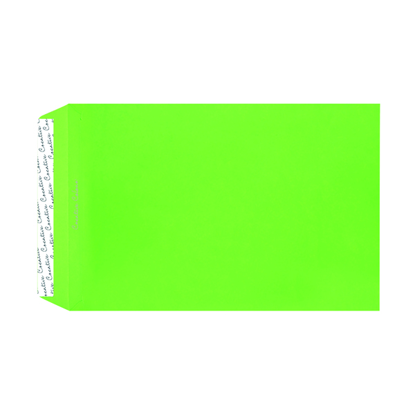 Other C4 Pocket Envelope Peel and Seal 120gsm Lime Green (250 Pack) 407P
